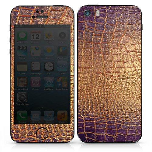 Apple iPhone 6 Case Skin Sticker aus Vinyl-Folie Aufkleber Schlangenhaut Muster Gold DesignSkins® glänzend