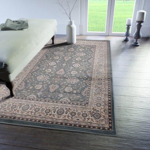 Tabriz Orientalische Teppiche (Traditioneller Klassischer Teppich für Ihre Wohnzimmer - Dunkel Grün Creme - Perser Orientalisches Ziegler Nain Muster - Blumen Ornamente - Top Qualität Pflegeleicht