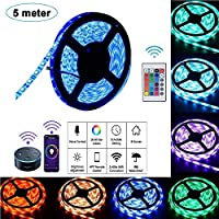5 Meters Strip Light Strips Lights Smart Wifi String Lighting Decoration LED Strip Lights, Compatible with Alexa and Google Home for Ceiling Kitchen Home Theater Laptop PC Monitor(RGB, 5050 SMD)