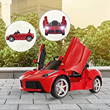 Coche Electrico Bateria 6V Niño Infantil Ferrari Rojo 122x60x51cm 3-8 Años Musica
