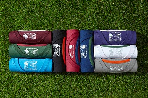 Charles Wilson Premium Baumwoll Herren T-Shirt mit Rundhalsausschnitt Schwarz