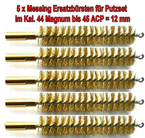 5x Hochwertige Ersatz Bürsten aus Messing mit hoher Qualität im Kal. 45 / 12mm -