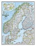 Skandinavien Landkarte classic ca 58 x 76cm -