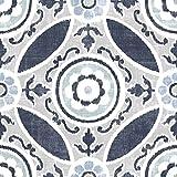Wallpops Fp2484Sienna Peel et bâton dalles de sol, DE Bleu, Lot de 10pièces
