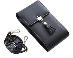 Handy Umhängetasche Damen Handy Schultertasche Kleine Tasche Frauen Brieftasche Cross-Body PU Leder Shoulder Bag mit Kartenfä