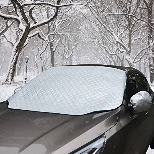 Preisvergleich Produktbild Scheibenabdeckung Auto Scheibenschutz Winter Frostabdeckung Autoscheibenabdeckung WinterabdeckungEisschutz Schneeschutz Magnet-Fixierung mit Mit Rückspiegel Abdeckungen (125*150cm)