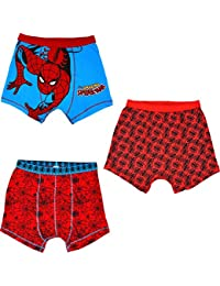 Spiderman Boxer Shorts 3 Pack Boys Marvel Trunks Pants Ages 2 To 12 Years