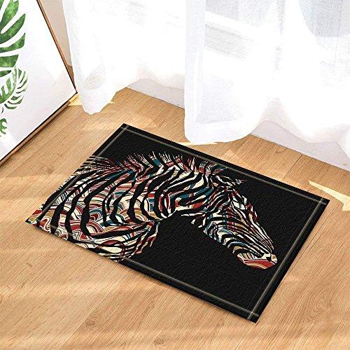 (cdhbh African Wildlife Decor Creative Tropical Animal Zebras Silhouette Bad Teppiche rutschhemmend Fußmatte Boden Eingänge Innen vorne Fußmatte Kinder Badematte 39,9x 59,9cm Badezimmer Zubehör)