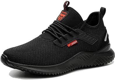 Scarpe da lavoro da uomo con punta in acciaio, scarpe di sicurezza da donna, suola intermedia in kevlar, traspiranti, Work Shoes
