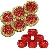 Set di 6 Prisha India ® di artigianato realizzati a