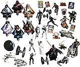 alles-meine.de GmbH 36 tlg. Set _ XL Fensterbilder -  Star Wars / Figuren  - Sticker Fensterstic..