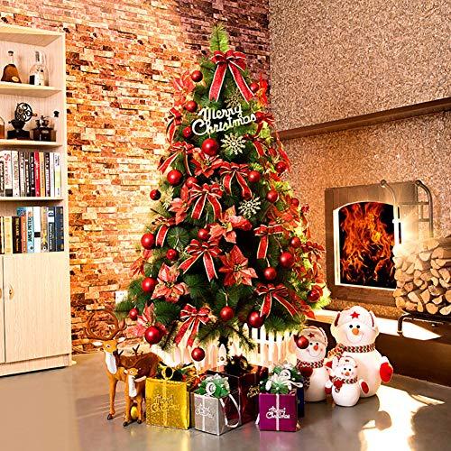 CYWYQ Klassisch Künstlicher Weihnachtsbaum, Mit ERN Premium Fichte aufklappbaren Baum w 600 führte er & Kegel Mit metallständer H 250cm(98inch) -