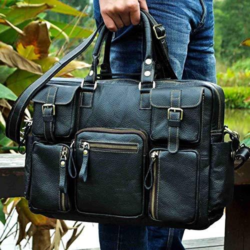 LMSHM Aktentasche Für Männer Leder Mode Business Messenger Bag Männlichen Design Reise Laptop Dokument Fall Tasche