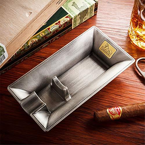 CGRTMK Portacenere di sigari in metallo Accessori per sigari di lusso Design creativo per sigari,Silver