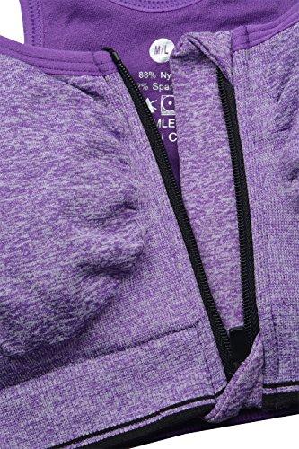 Sunland Soutien-gorge de Sport Sous-vêtements Bra Brassière pour jogging Yoga Gym Fitness Violet