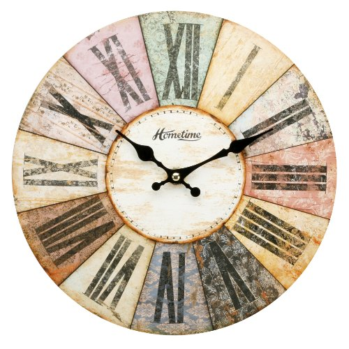 hometime-mdf-round-wall-clock-roman-dial-multi-coloured-w6803bn