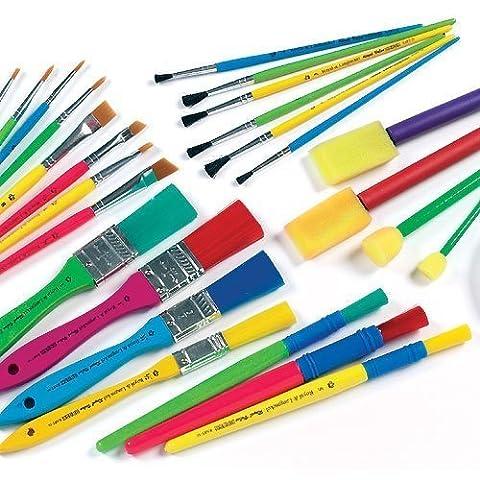 Bumper Paint Brush & Sponge Dabber Value Pack Assorted Shapes
