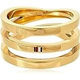 خاتم ستيل مطلي بالايون باللون الذهبي للنساء من تومي هيلفجر - طراز 2701100E