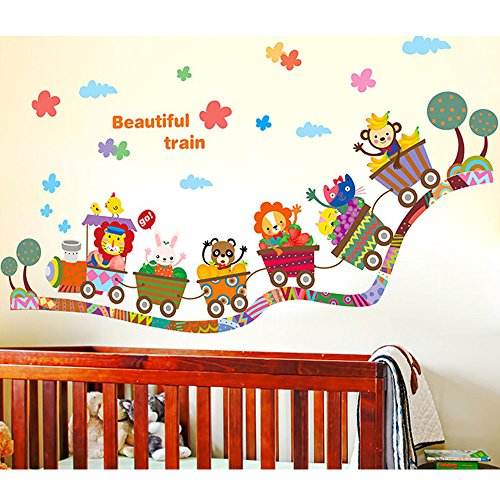 Preisvergleich Produktbild Japace® Tiere Karikatur Babyzimmer Wandsticker Wandtattoo Wunderschönes Zuhause Decortion