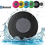 TruBasket Water Proof Bluetooth Shower Speaker with Mic Wireless Stereo Shower Speakers Portable Waterproof Bluetooth Wireless Stereo Shower Speakers, Best for Bath, Pool, Car, Beach, Indoor/Outdoor