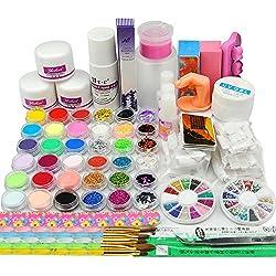 Coscelia Polvo Acrílico Glitter LiquidO Uñas Artes Cepillo UV Gel Uñas Falsas Kit