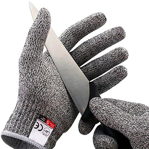 Amgaze Schnittschutzhandschuhe - Schnittschutzklasse Level 5 für Küche/Baustelle/Gartenbau/Schlachtung Schutz der Fingerhand (XL)