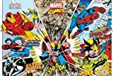Générique Marvel Comics-Rayons de Personnages 36x 24Poster Art Print Iron Man Thor Hulk Spiderman Captain America Wolverine Silver Surfer