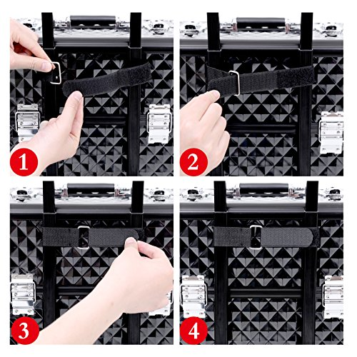 Songmics® Nail Art Make Up Beauty Case Trolley Suitcase Box Nail Polishes Objects jhz04b Jewellery Holder