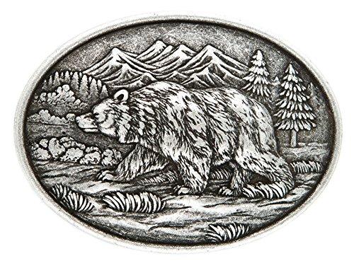 Preisvergleich Produktbild VERI Bär Buckle Western Gürtelschliesse Canada Rocky Mountain Wildtier Gürtelschnalle Wechselgürtelschnalle one size cm : )