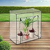 Serre Compacte en PVC | 101x50,5x99,5 cm, Fer avec Revêtement Poudré | Serre de Jardin Plastique, Tente Abri (Taille au Choix)
