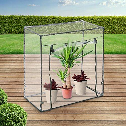 Jago serra da giardino | per piante, fiori, pomodori 101x50,5x99,5 cm, protezione uv, da terrazzo | serra per piante, serra di plastica