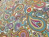 Creme Paisley Polster Vorhang Baumwolle Material–doppelte Breite 280cm-sold Stoff Meterware