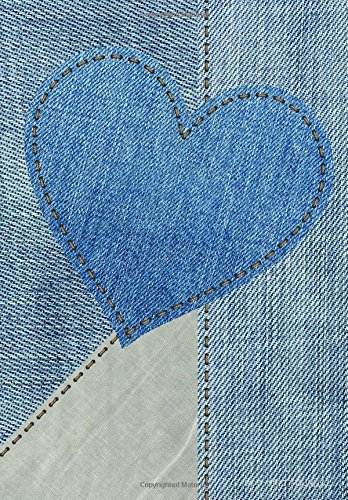 Denim Heather (DOT Grid Journal: Blank Book Diary Notebook Denim Heart Cover: 7 x 10 size, 100 pages, perfect for Bullet Journaling!)
