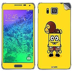 GsmKart SGA Mobile Skin for Samsung Galaxy Alpha (Yellow, Galaxy Alpha-730)