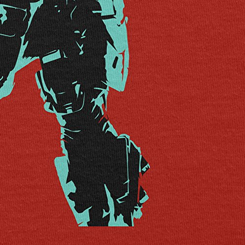 TEXLAB - The Master - Herren Langarm T-Shirt Rot