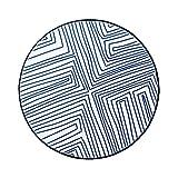WSGZH Blauer Runder Teppich Weicher Waschbarer Wohnzimmerkorb-Matten-Studie-Schwenker-Schalldämmende Nachtteppich-Beleg (Farbe : C, größe : 150cm(59inch))