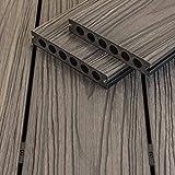 WPC Terrassendiele grau Holzoptik witterungsbeständig Wendediele Sunlight Tobago
