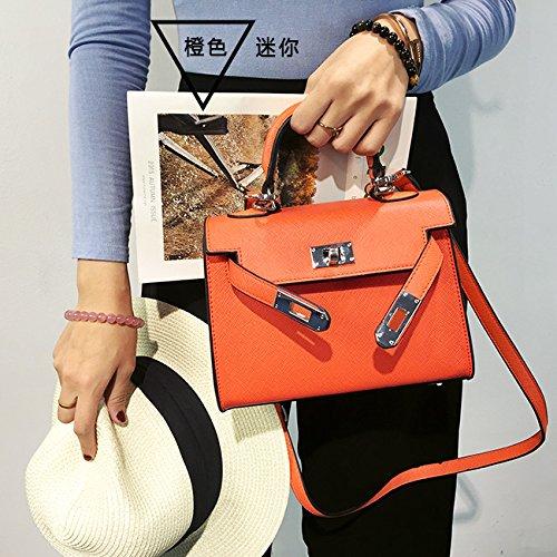 LiZhen elegante ragazza nuovo pacchetto autunno e inverno mini borsa pacchetto ramp cross-fare clic su borsa a tracolla home Kelly pacchetto platinum, Roma grande rosso 28cm Orange Mini 22cm