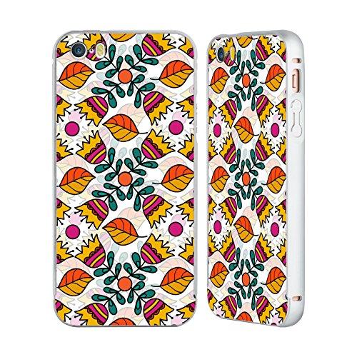 Ufficiale Shelly Bremmer Boccioli Fiori Argento Cover Contorno con Bumper in Alluminio per Apple iPhone 6 Plus / 6s Plus Ballare