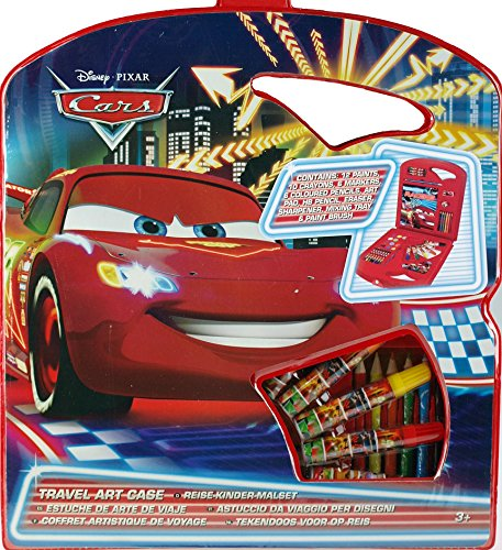 Image of Disney Cars Piece MEGA Art And Colouring Box Carry Case Gift Set