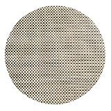HYSENM 4 Stücke PVC geflochten Tischmatten Tischsets Platzsets Platzdeckchen Platzmatten Placemats rund Kunststoff Beige/Grau/Golden/Grün usw, Grüner Karo Durchmesser 35cm