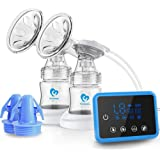 Bellababy Electric Breast Pump Portable 4 Modes & 9 Levels Efficient Suction Touch Panel Timer Display, Breastfeeding Double