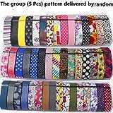 Greatfine Bandas de reemplazo de la correa con cromo cierre Watch, para pulseras de color Fitbit Flex, banda de accesorios para todos los tamaños (Small Size(5.2-7.8inches) 5packs, Groups delivered by random)