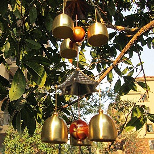 Chinesische Windspiel 2-Schicht Dach 6 Glocken Glück Feng-Shui Garten Dekor - 2