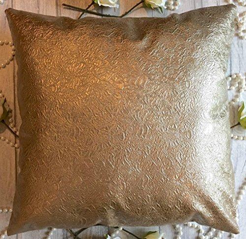 Leder Kissenbezüge 18x18 Zoll 45x45 cm (Impress Mink, 1 Stück) -
