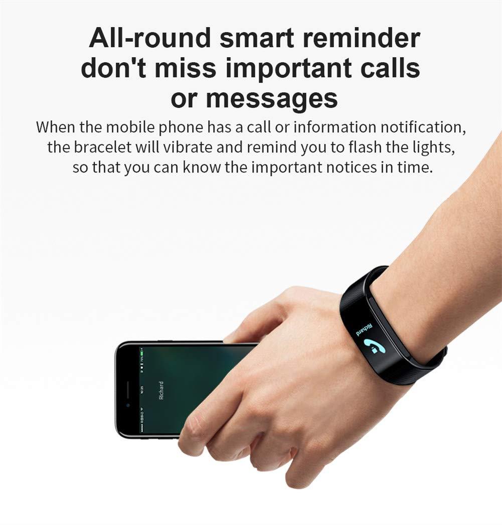 Hunterace Reloj Inteligente Hombre o Mujer, con Monitor de frecuencia cardíaca, con Contador de Pasos, multifunción, Resistente al Agua, Pulsera Inteligente (3 Colores) 6