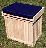 PROMADINO Kissenbox PATRICK mit Auflage 56x43x56cm Sitzbank Gartenbank Kiefer