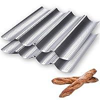 Moule à baguette perforé, 38,1 x 33 cm, pour la cuisson française à 4 vagues de pain, moule à pain grillé et 4…
