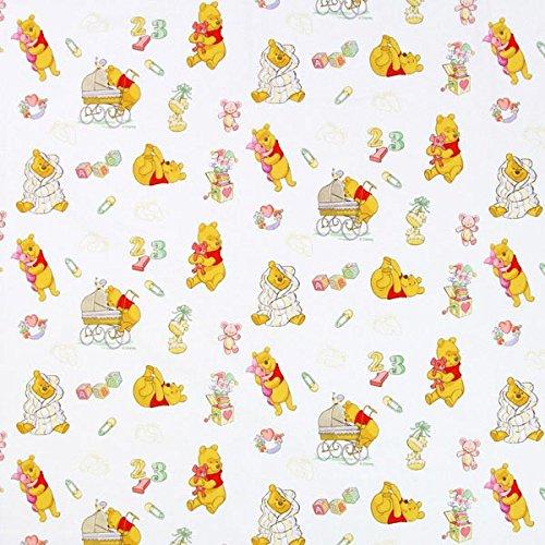 Fabulous Fabrics Disney Winnie Puuh Dada Weiss - Meterware ab 0,5m - zum Nähen von Kissen, Vorhänge und Bettwäsche