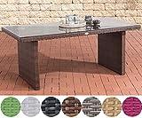 CLP Poly-Rattan Garten-Tisch AVIGNON, Größe: 180 x 90 cm, Höhe: 75 cm, bis zu 5 Rattan-Farben wählbar braun-meliert